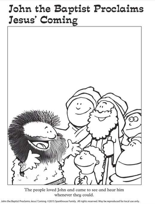 Free Advent Coloring Page Printable